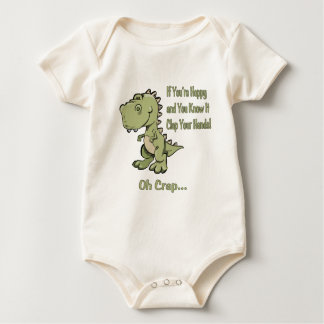 Happy T-Rex Baby Bodysuit