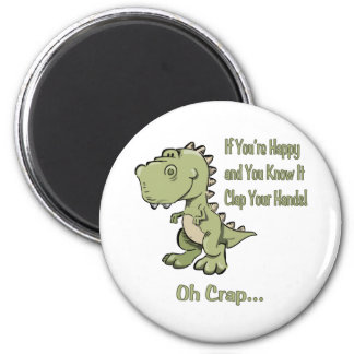 Happy T-Rex Refrigerator Magnets