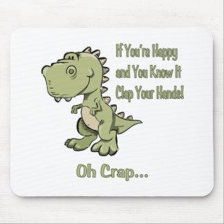 Happy T-Rex Mouse Pad