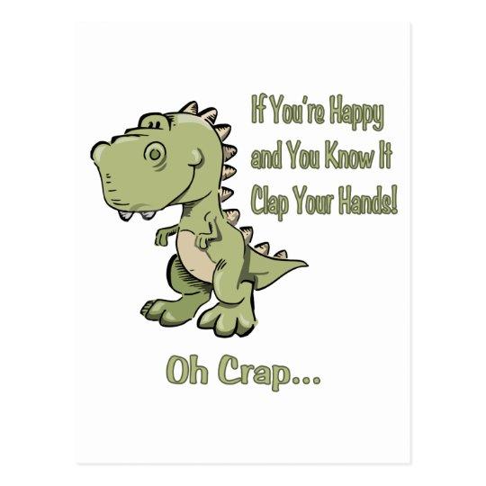 Happy T-Rex Postcard