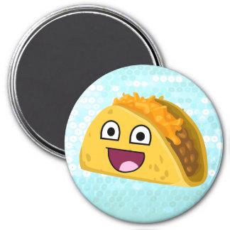 Happy taco 3 inch round magnet