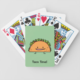 Happy Taco corn shell beef meat salsa Mexican food Bicycle Playing Cards