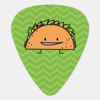 Happy Taco corn shell beef meat salsa Mexican food Guitar Pick