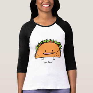 Happy Taco corn shell beef meat salsa Mexican food T-Shirt