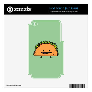 Happy Taco iPod Touch 4G Skin