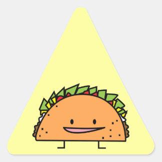 Happy Taco Triangle Sticker