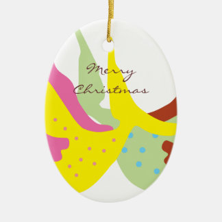 Happy Tails Christmas Oval Ornament