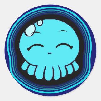 Happy Tako-Chan Classic Round Sticker