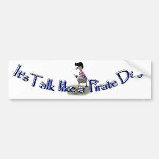 """Happy """"Talk like a Pirate"""" Day Car Bumper Sticker"""