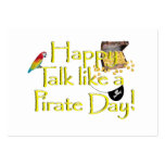 Happy Talk Like A Pirate Day! Large Business Cards (Pack Of 100)