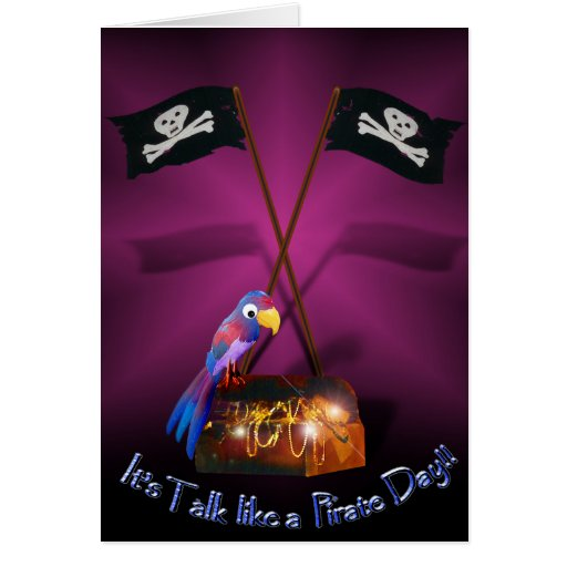 """Happy """"Talk like a Pirate"""" Day Greeting Card"""