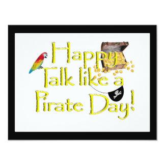 Happy Talk Like A Pirate Day! 4.25x5.5 Paper Invitation Card