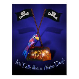 "Happy ""Talk like a Pirate"" Day Postcard"
