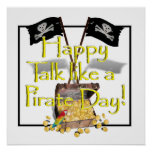 """Happy """"Talk like a Pirate"""" Day Poster"""