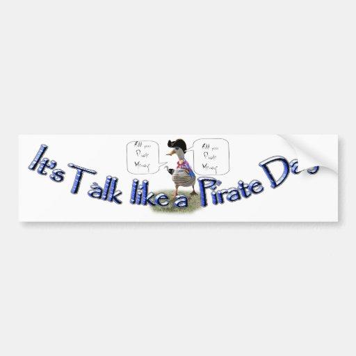 "Happy ""Talk like a Pirate"" Day (speech bubble) Bumper Sticker"