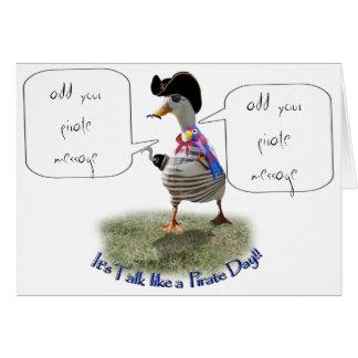 "Happy ""Talk like a Pirate"" Day (speech bubble) Card"