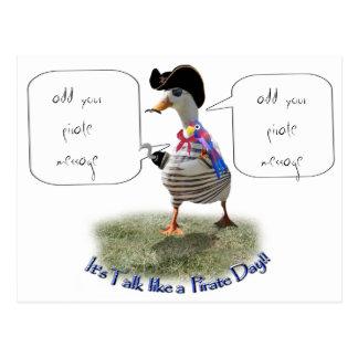 "Happy ""Talk like a Pirate"" Day (speech bubble) Postcard"