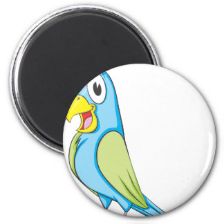 Happy Talking Parrot 2 Inch Round Magnet