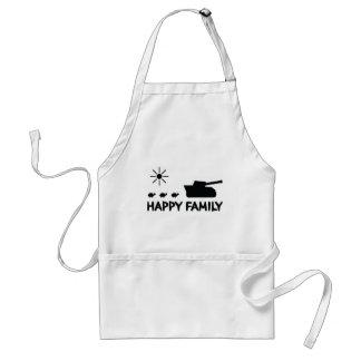 happy tank turtle family icon apron