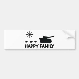 happy tank turtle family icon bumper stickers