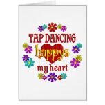 Happy Tap Dancing Greeting Card