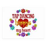 Happy Tap Dancing Postcard