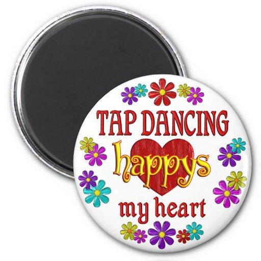 Happy Tap Dancing Refrigerator Magnet