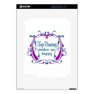 Happy Tap Dancing iPad 2 Decals