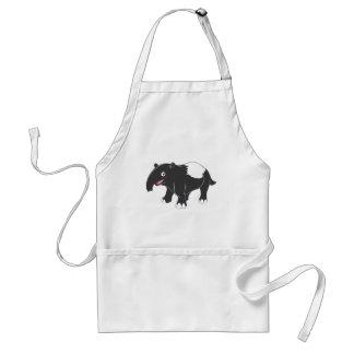 Happy Tapir Cartoon Aprons
