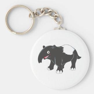 Happy Tapir Cartoon Keychain