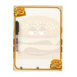 Happy Tasty Cheeseburger Dry Erase Board