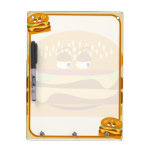 Happy Tasty Cheeseburger Dry Erase Whiteboards