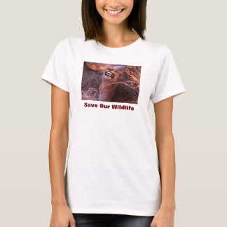 Happy Tau, Lion, Save Our Wildlife T-Shirt