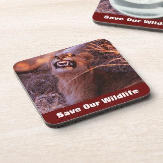 Happy Tau Save Our Wildlife Beverage Coaster