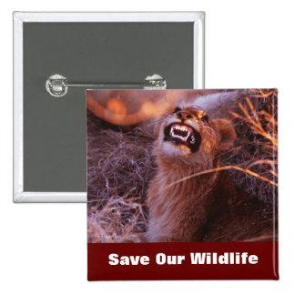 Happy Tau Save Our Wildlife Button