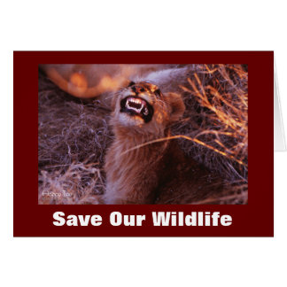 Happy Tau Save Our Wildlife Greeting Card