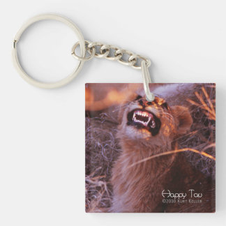 Happy Tau Single-Sided Square Acrylic Keychain