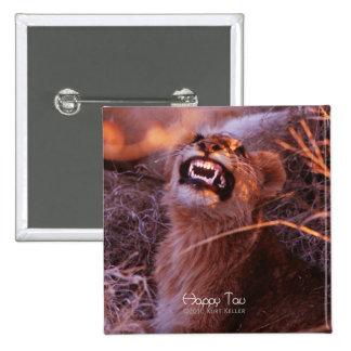 Happy Tau, Smiling Lion Cub Pinback Button