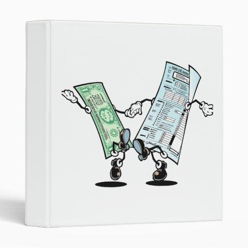 happy tax day 3 ring binder