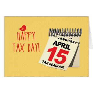 Happy Tax Day Calendar, April 15, Humor Card