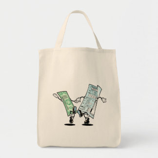 happy tax day grocery tote bag