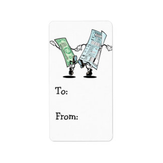 happy tax day label