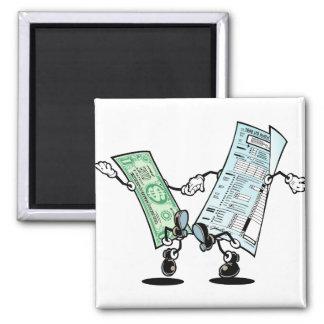 happy tax day fridge magnet