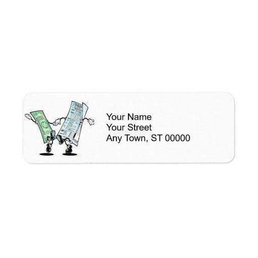 happy tax day return address label
