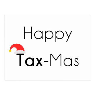 Happy TaxMas Postcard