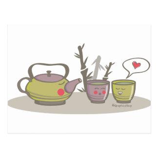 happy tea postcard