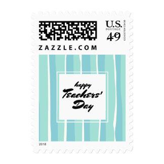 Happy Teachers' Day  Stripe Pattern Postage Stamps