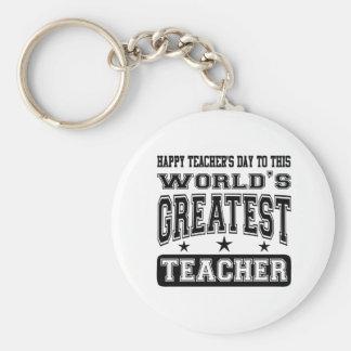 Happy Teacher's Day To World's Greatest Teacher Key Chains