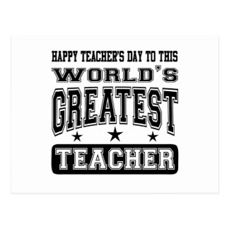 Happy Teacher's Day To World's Greatest Teacher Postcard