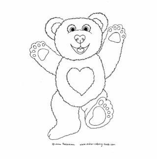 Happy Teddy Standing Photo Sculpture